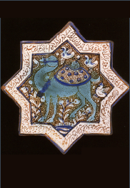 Tile with a camel from Taht-i Sulaiman palace
