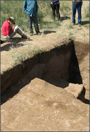 Archaeological excavation at Kedun, Mongolia 2010