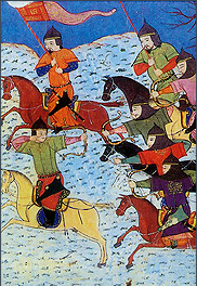Mongolian riders attacking Jin