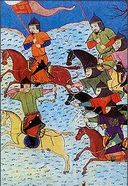 Mongolian riders attacking Jin