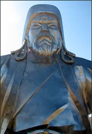 Chinggis Khan's sculpture near UB, Mongolia 2010